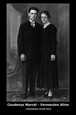 Coudenys Marcel en Vermeulen Aline, Meulebeke, 1933