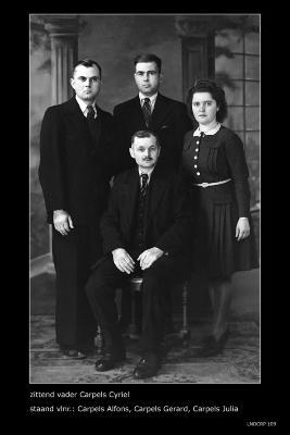 Familiefoto Carpels, Ingelmunster