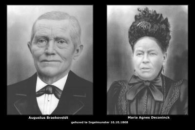BRAEKEVELDT Augustus en DECONINCK Maria Agnes, Ingelmunster, 1868