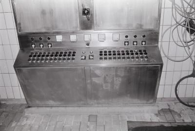 Elektrische bedieningspanelen in Eurolac, Moorslede 1969