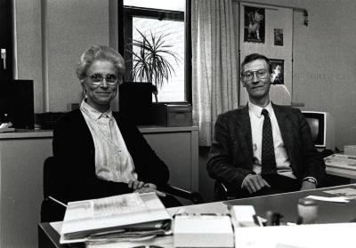 Zuster Bommerez en directeur van de Burgerschool, Roeselare