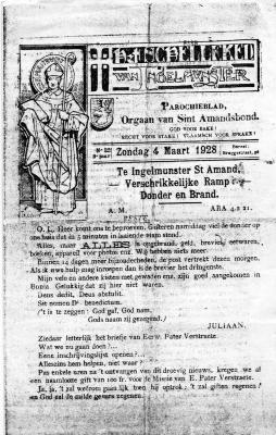 Parochieblad, Ingelmunster, 1928