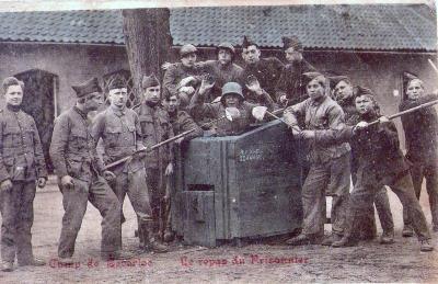 Maaltijd van een krijgsgevange in het kamp van Beverlo