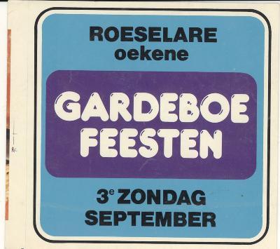 Sticker Gardeboefeesten Roeselare Oekene