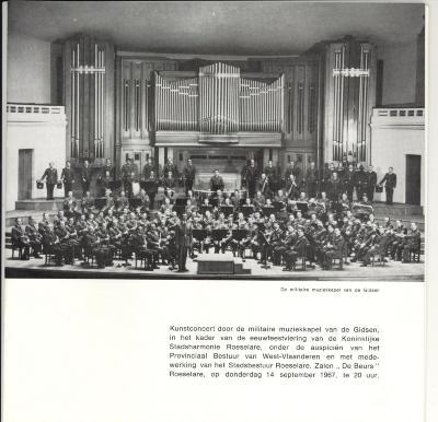 De Koninklijke Stadsharmonie Roeselare  Een eeuw jong 1867-1967 Deel 3