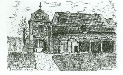 Pentekening, ingang Kasteel Rumbeke