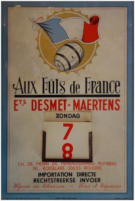 Kalender van Ets Desmet-Maertens, Roeselare-Rumbeke