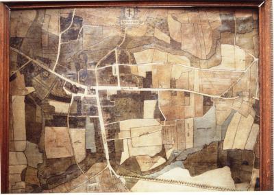 Geschilderd stadsplan Louis de Bersacques uit 1935, Roeselare