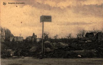 Postkaart zicht op Sleihage, Hooglede