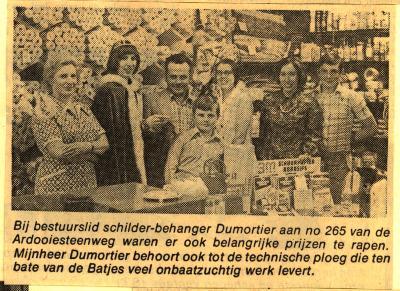 Batjesprinsessen 1974 bij schilder-behanger Dumortier