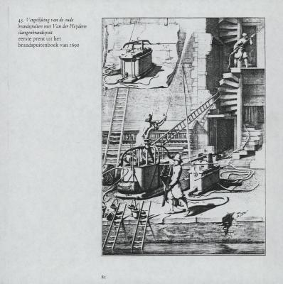 7 fotocopies uit het brandspuitenboek van Jan van der Heyden uit 1690