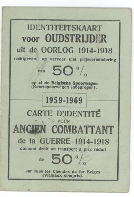 Oudstrijderskaart 1914-1918 (2)
