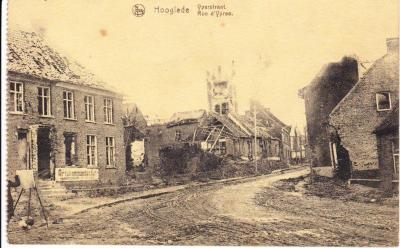Iepersestraat, 1918, Hooglede