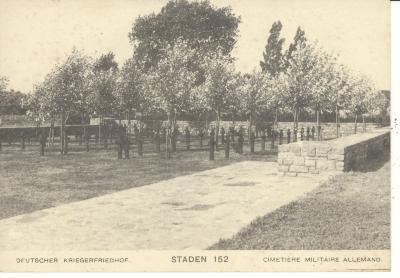 Postkaart Duits kerkhof (5)