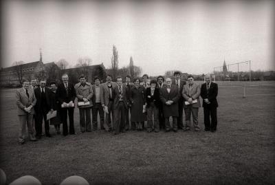 Groepsfoto van Sportraad, Moorslede maart 1978