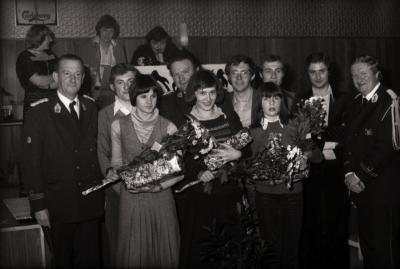 Harmonie De Verenigde Vrienden koos Miss Majorette, Moorslede november 1977
