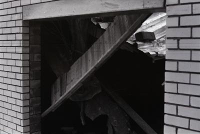 Beschadigde sporthal, Moorslede 1976
