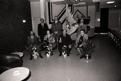 Viering kaartkampioen K.W.B., Moorslede 1977