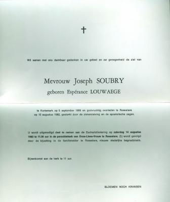 Herinneringen aan de stichters van Soubry, Roeselare
