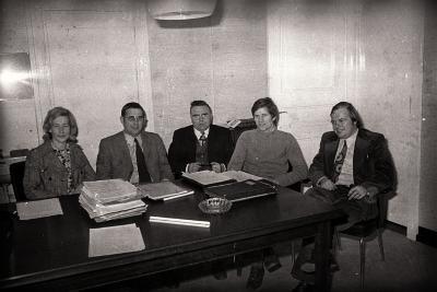 Ambtenaren poseren, Gullegem 1976
