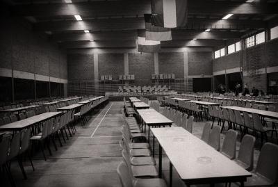 Binnenzicht sporthal, Moorslede 1976