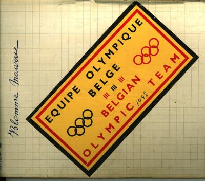 Belgium Olympic Team voor Maurice Blomme, 1948