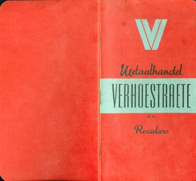 Inlichtingenboekje bij het berekenen van het metaal volgens NV Metaalhandel Verhoestraete, Roeselare
