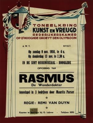 Toneelaffiche 1958