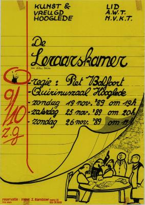 Toneelaffiche 1989
