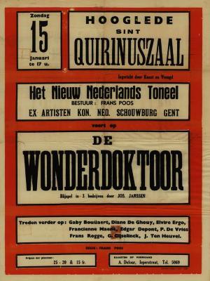 Toneelaffiche 1950