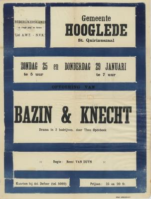 Toneelaffiches 1953