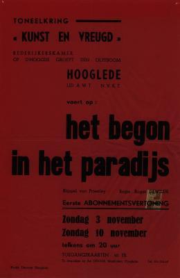 Toneelaffiche 1968