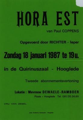 Toneelaffiche 1987