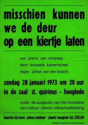 Toneelaffiches 1973