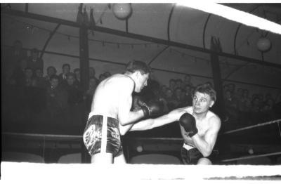 Bokswedstrijd met  Vanhoucke en Alloo, Izegem 1957