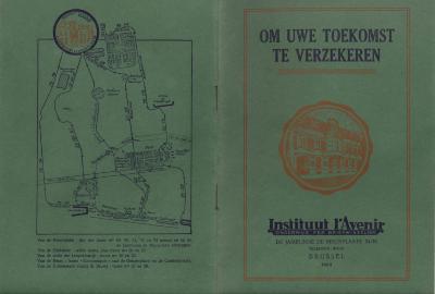 Informatiebrochure Instituut l'avenir, 1923
