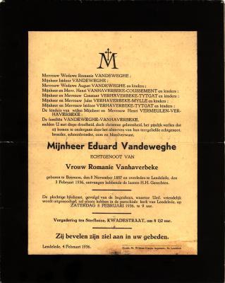 Doodsbrief, 1936