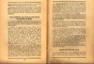 Informatiebrochure Instituut l'avenir, 1924 (deel 2)