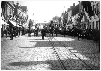 Agenten in Noordstraat, 1910