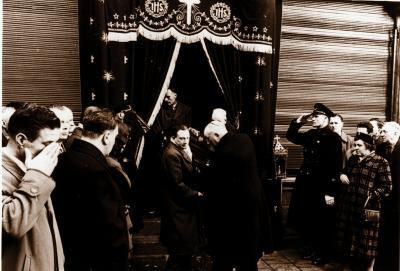 Begrafenis Olivier Valeer, 1958