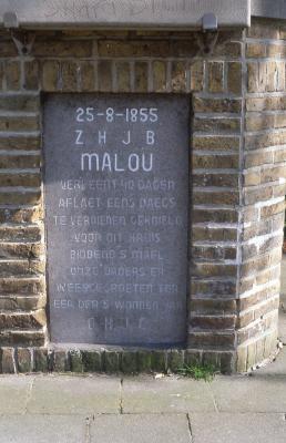 Sokkel kruisbeeld Brugsesteenweg, 1997