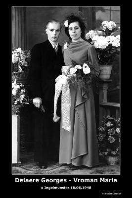 Delaere Georges André en Vroman Maria Margaretha, Ingelmunster, 1948