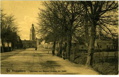 Prentkaart Steenweg van Menen, Roeselare