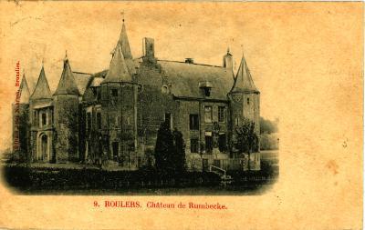 Prentkaart kasteel Sterrebos, Roeselare-Rumbeke