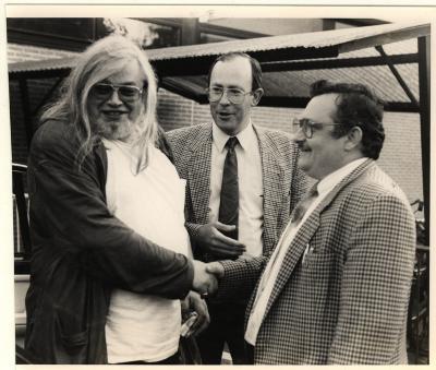 Bezoek Jean-Pierre Van Rossem aan Izegem