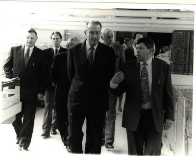 Bezoek koning Albert aan Izegem
