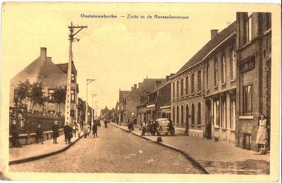 Oostnieuwkerke. - Zicht in de Roeselarestraat