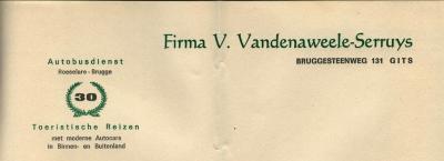 Briefhoofden Firma Vandenaweele-Serruys