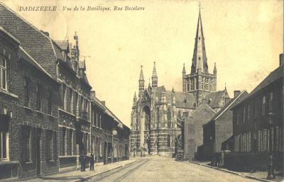 Basiliek Dadizele, gezien vanuit  Beselarestraat