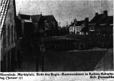 Duitse redevoering, markt Moorslede, januari 1917